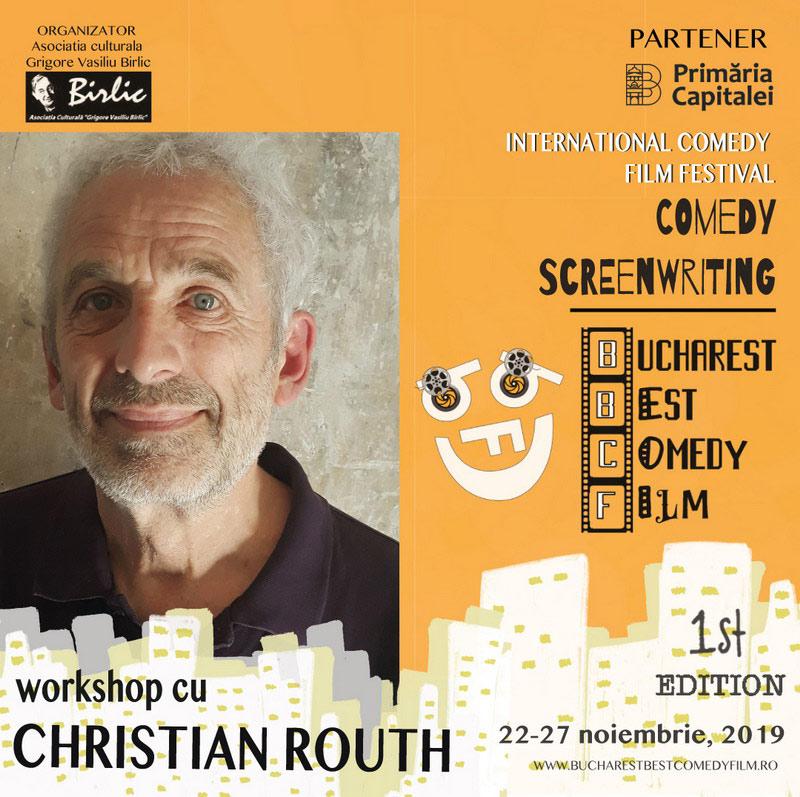 """8 scenariști participă la Workshop-ul """"Scenariu de comedie"""" susținut de Christian Routh"""