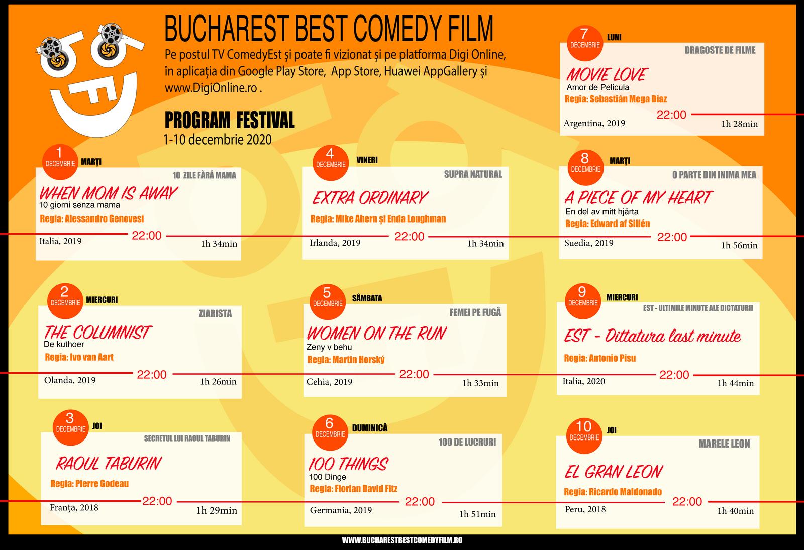 Festivalul Bucharest Best Comedy Film propune o selecție remarcabilă de filme internaționale de comedie