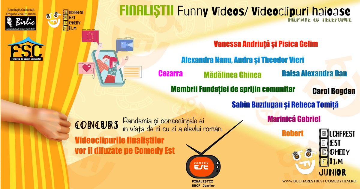 "Finaliștii concursului ""Funny Videos"""