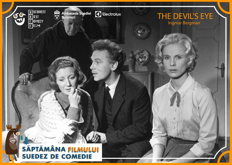 Bucharest Best Comedy Film vă invită să vizionați în premieră națională capodopera cinematografică a renumitului regizor Ingmar Berman, comedia The Devil's Eye/Ochiul Diavolului (Suedia, 1960).