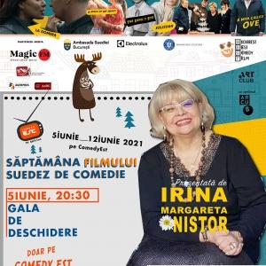 """Bucharest Best Comedy Film vă invită să vizionați pe televiziunea ComedyEst de la orele 20.30 - 5 iunie, Gala de deschidere a evenimentului """"Săptămâna filmului suedez de comedie."""